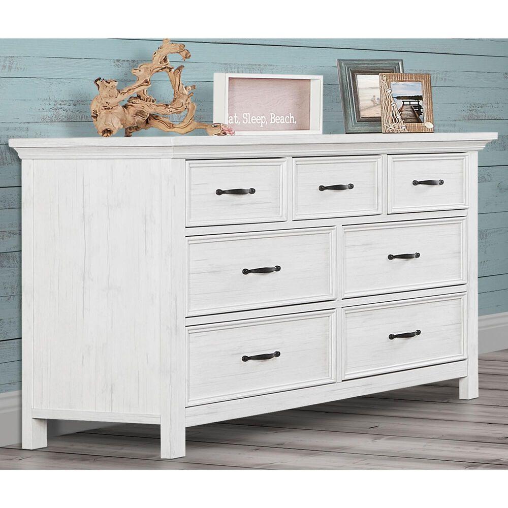 Evolur Belmar 7 Drawer Double Dresser in Weathered White, , large
