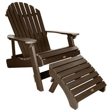 Highwood USA Hamilton Adirondack Chair & Ottoman in Weathered Acorn, , large