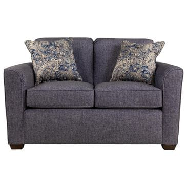 Flexsteel Lakewood Loveseat in Indigo Blue with Two Toss Pillows, , large