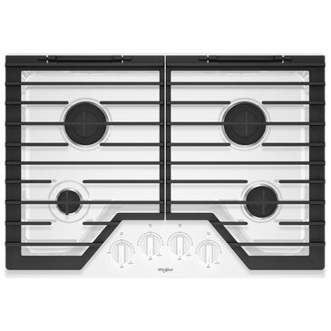"""Whirlpool 30"""" 4-Burner Gas Cooktop in White, , large"""