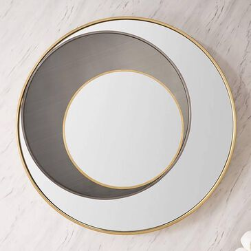 """James Martin Cosmos 35.4"""" Mirror in Radiant Gold and Onyx, , large"""