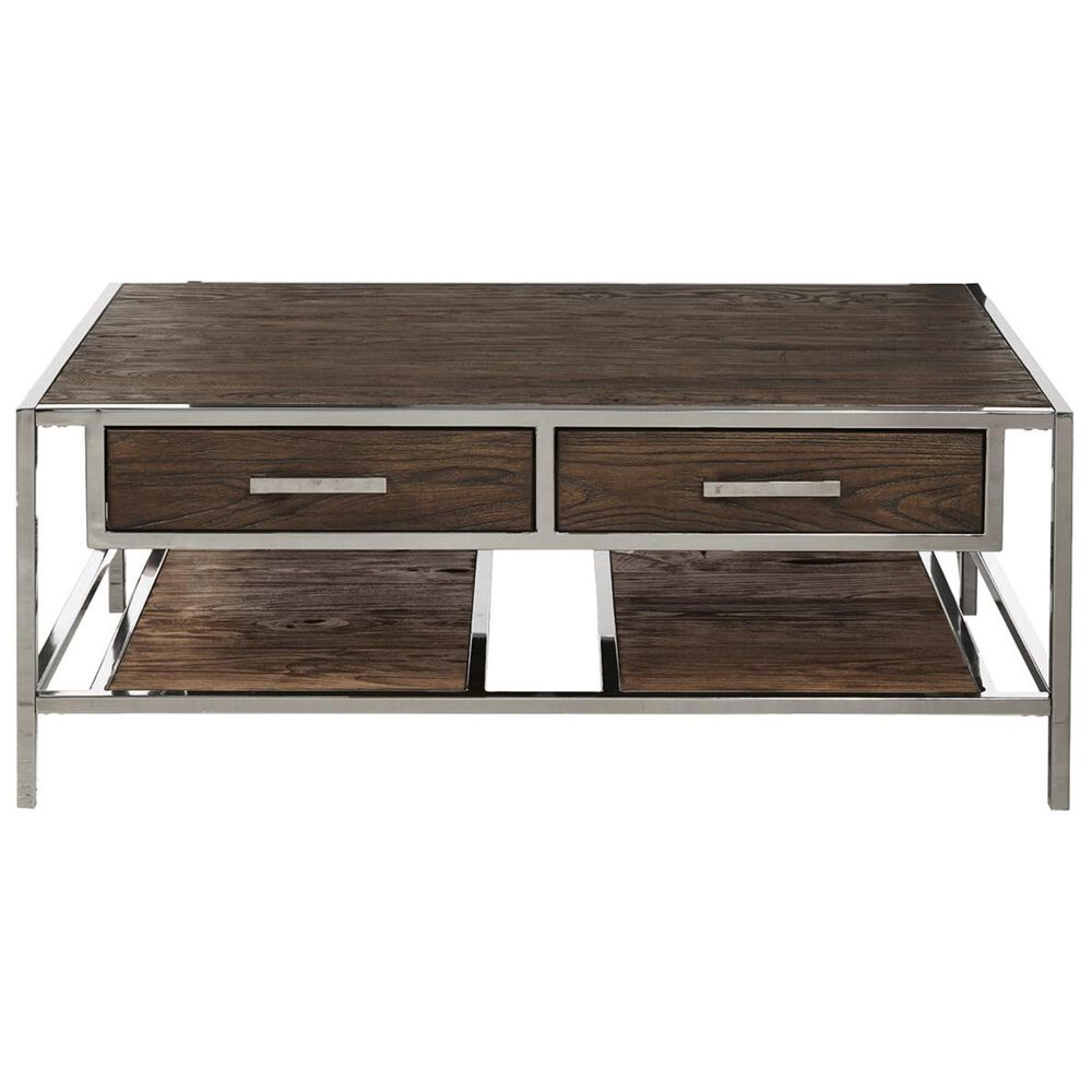 Accentric Approach Accentric Accents Benton Coffee Table in Rich Chocolate Brown, , large