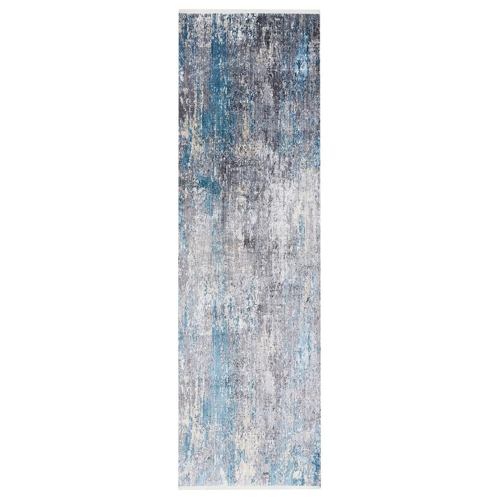 Safavieh Eclipse  3' x 10' Grey and Blue Runner, , large