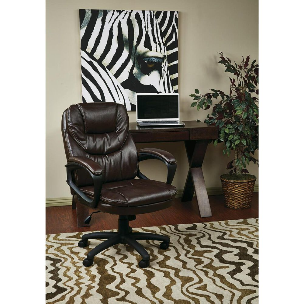 OSP Home FL Series Managers Chair in Chocolate, , large