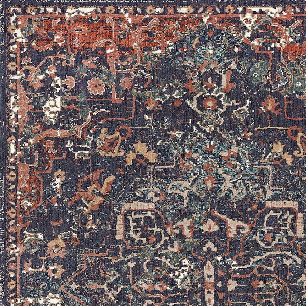 "Karastan Damascus 91977-50102 5'3"" x 7'6"" Indigo Area Rug, , large"