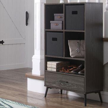 RiverRidge Home Woodbury Storage Cabinet with 2 Baskets in Dark Weathered Woodgrain, , large