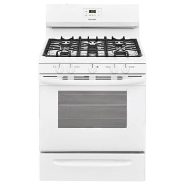 """Frigidaire 30"""""""" 5 Oval Burners Gas Range in White, , large"""