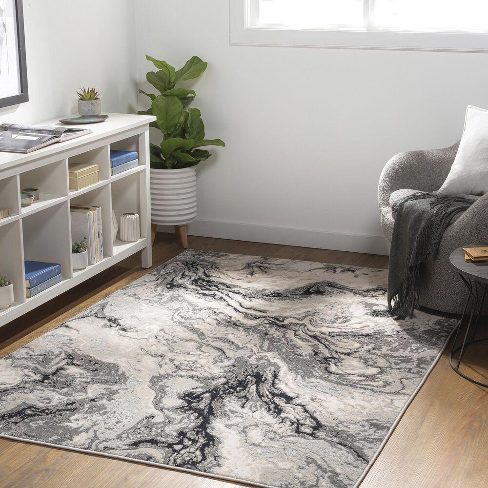 "Surya Carpet, Inc. Impulse 7'10"" x 10' Black, Gray and Cream Area Rug, , large"