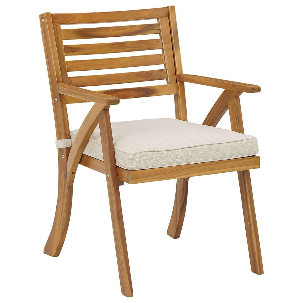 Signature Design by Ashley Vallerie 3-Piece Bistro Set with Light Beige Cushion in Brown, , large