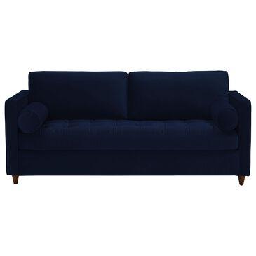 Joybird Briar Sleeper Sofa in Royale Cobalt Velvet and Mocha, , large
