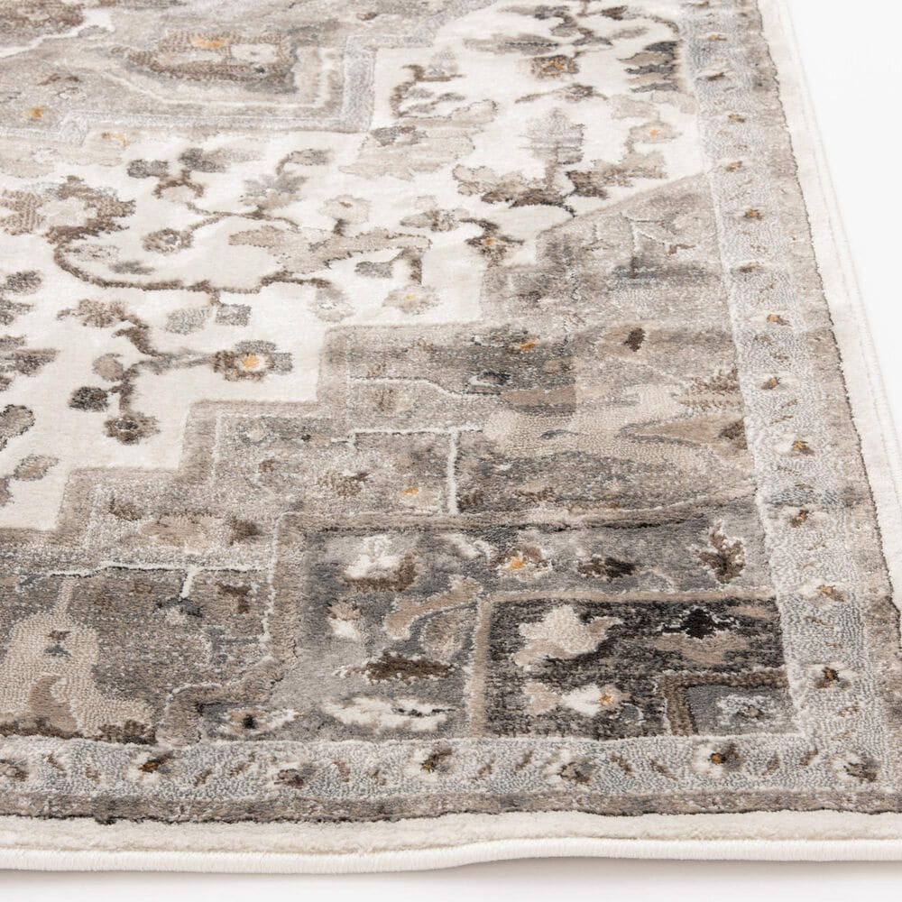 Central Oriental Adore Tansey 9266WR 8' x 10' Whitecap and Greige Area Rug, , large