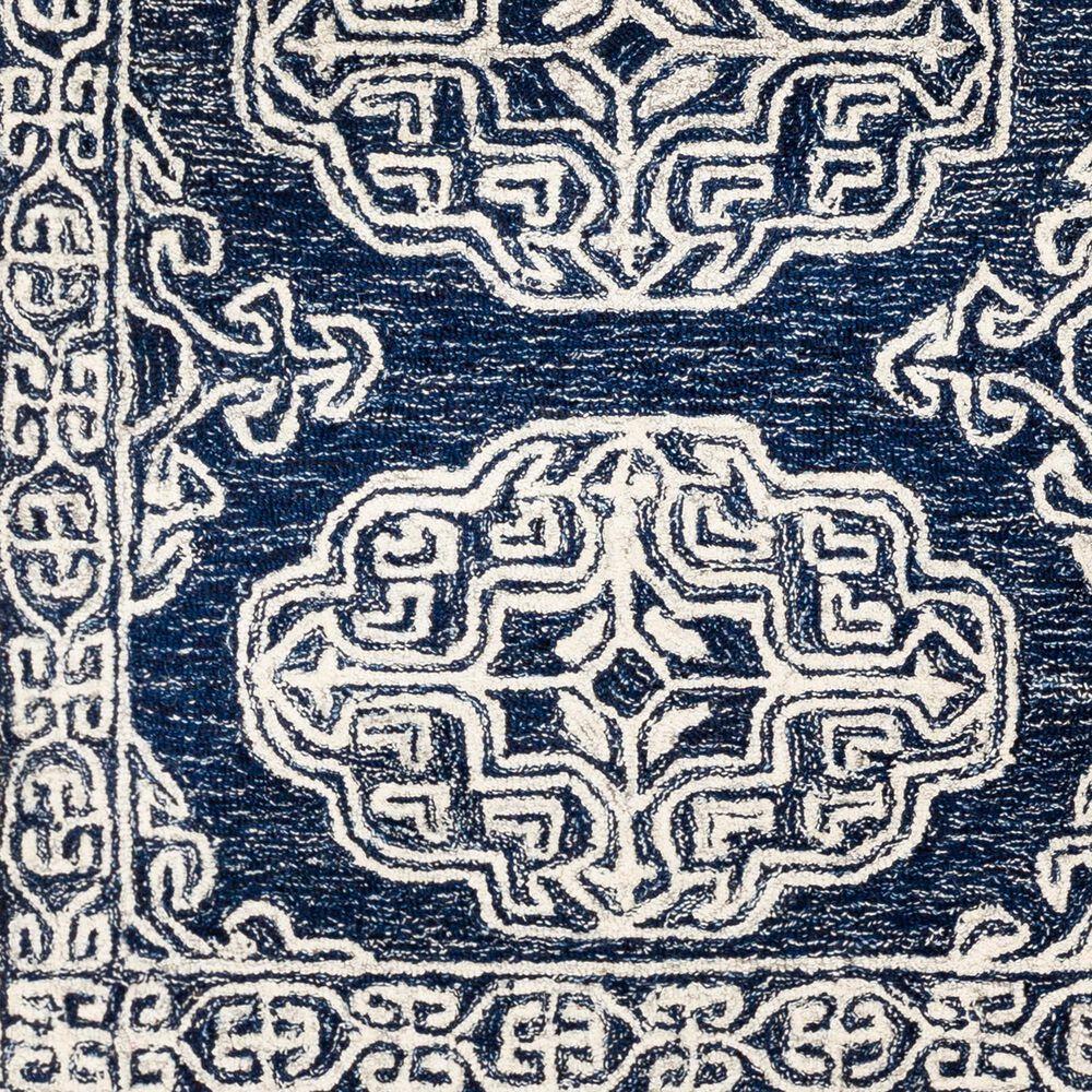 "Surya Granada GND-2308 2'6"" x 10' Dark Blue, Ivory and Charcoal Runner Rug, , large"