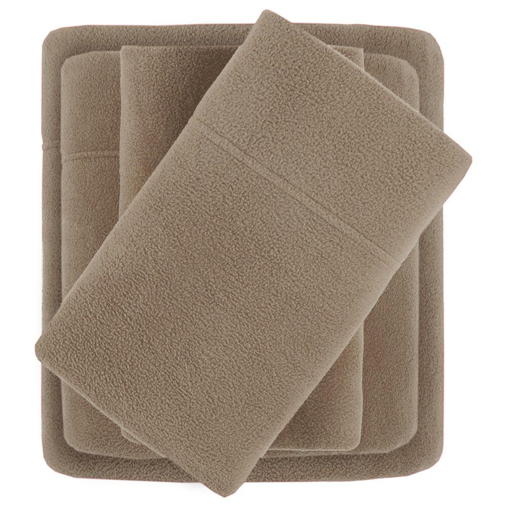 Hampton Park Micro Fleece 3-Piece Twin Sheet Set in Brown, , large