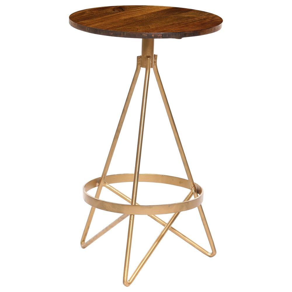 Carolina Chair and Table Micah Swivel Stool in Elm/Gold, , large