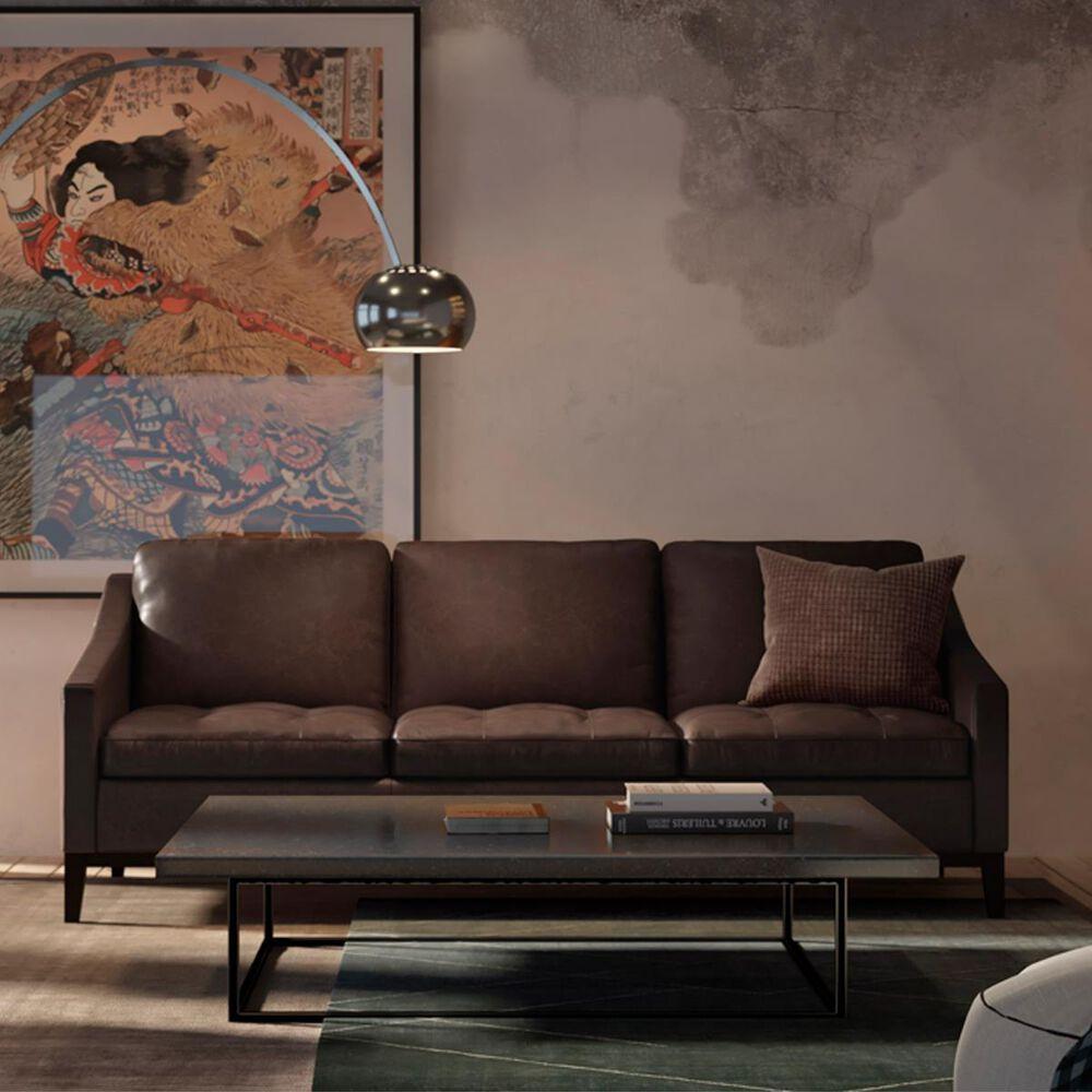 GTR Leather Inc. Torino 3 Seat Sofa in Monza Walnut, , large
