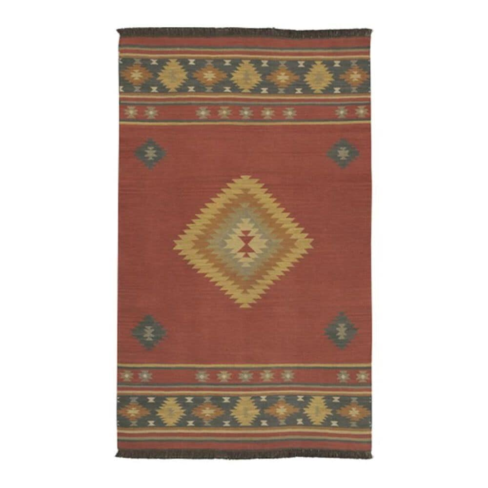 """Surya Jewel Tone JT-1033 3""""6"""" x 5""""6"""" Red, Navy, Camel and Rust Area Rug, , large"""