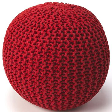 Butler Pincushion Pouffe in Red, , large