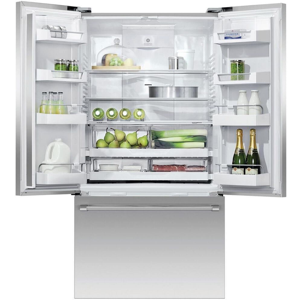 Fisher and Paykel 20.1 Cu. Ft. 3-Door French Door Refrigerator with Ice in Stainless Steel , , large