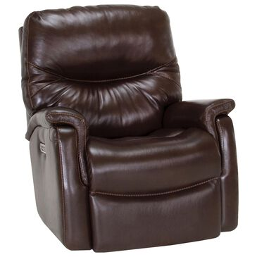Moore Furniture Summit Leather Power Rocker Recliner with USB in Coffee, , large