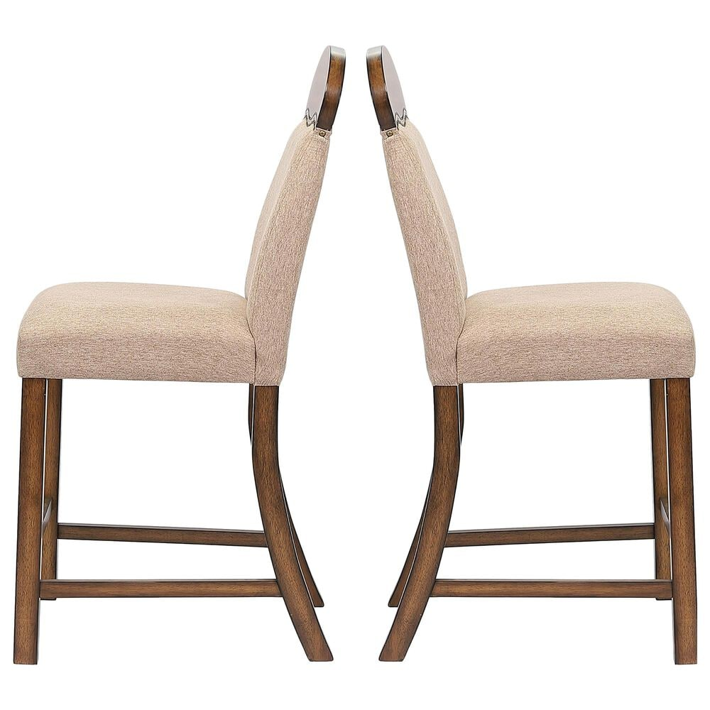 Gunnison Co. Maurice Counter Height Chair in Khaki/Oak (Set of 2), , large