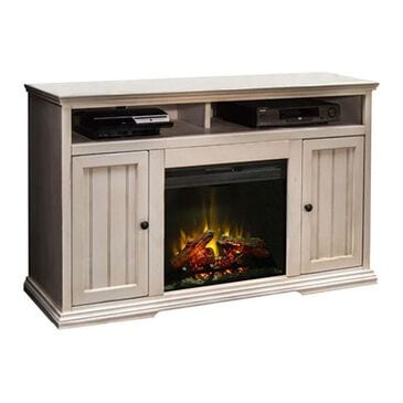"""Endress International Riverton 59"""" Fireplace Console in Antique White, , large"""