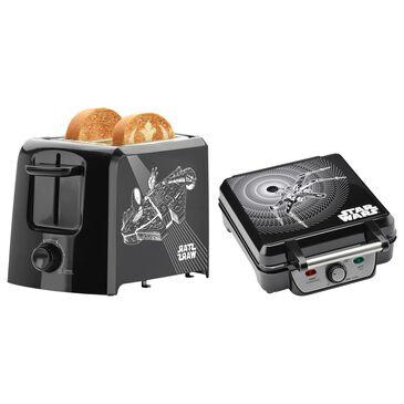 Kitchen Selectives Toaster and Waffle Maker Bundle in Black, , large