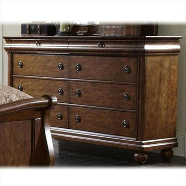 Belle Furnishings Rustic Traditions 8 Drawer Dresser in Rustic Cherry, , large