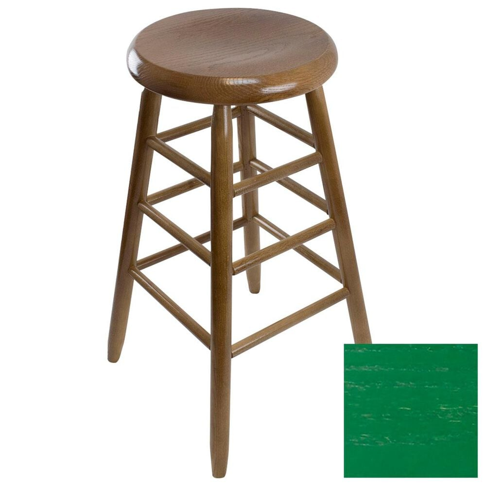 Lakeside Garland Round Barstool in Woodleaf Green, , large