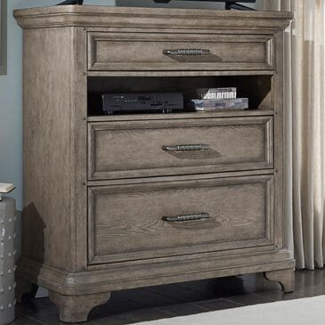 Chapel Hill Bristol 3 Drawer Media Chest in Elm Brown, , large