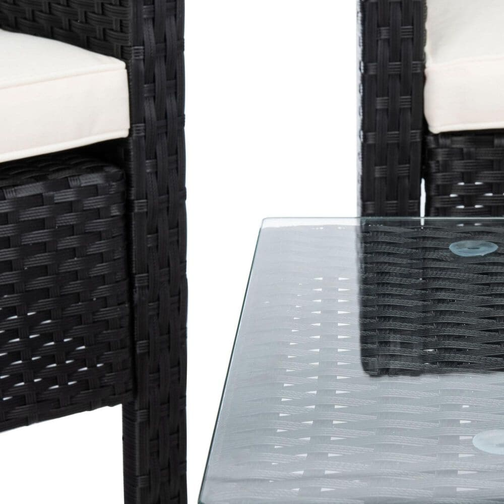 Safavieh Aboka 4-Piece Outdoor Living Set in Black/Beige, , large