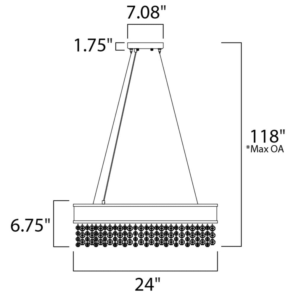 Maxim Lighting Mystic 16-Light LED Pendant in Polished Chrome, , large