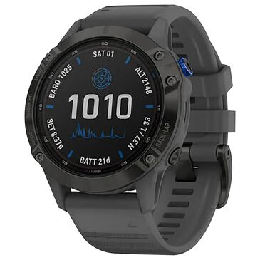 Garmin Fenix 6 Pro Solar Edition Adventure Watch with Slate Gray Band in Black, , large