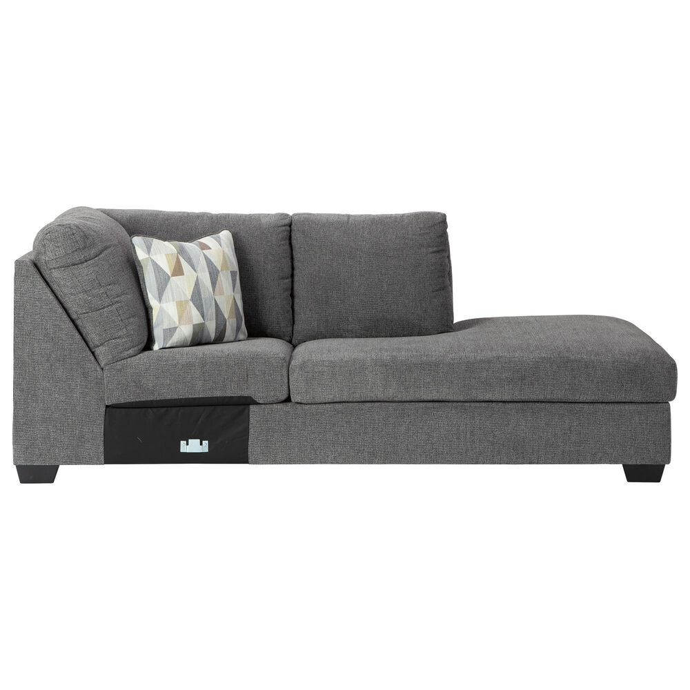 Signature Design by Ashley Dalhart 2-Piece Stationary Right Arm Facing Sectional in Charcoal, , large