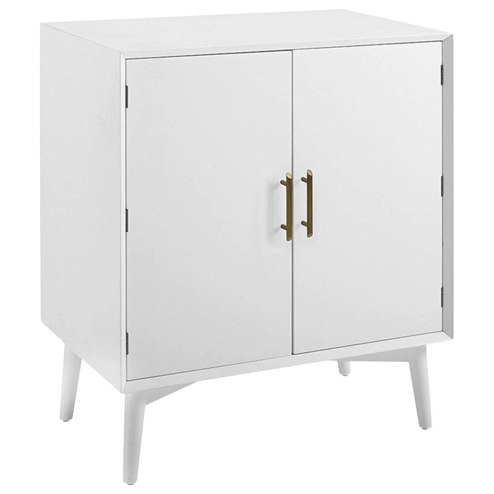 Crosley Furniture Landon Bar Cabinet in White, , large