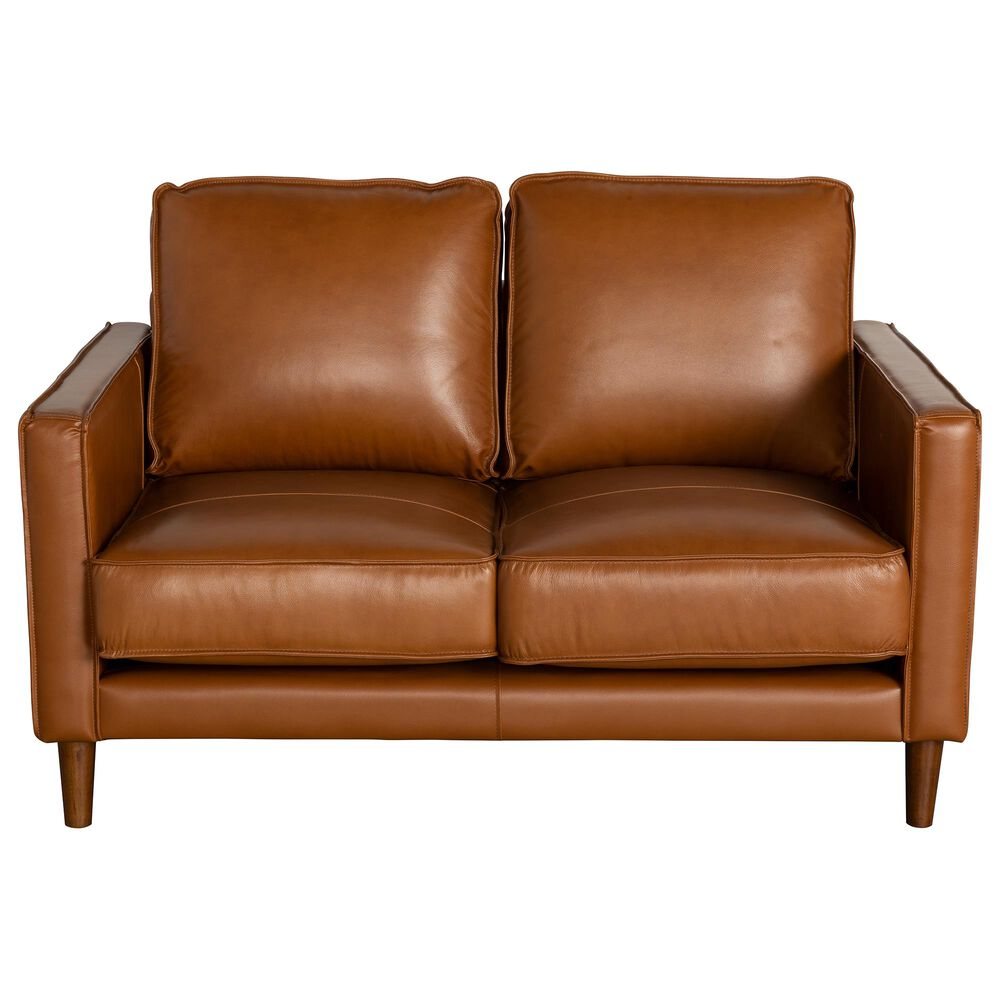 Mayberry Hill Pacer Leather Loveseat in Fiero Tan, , large