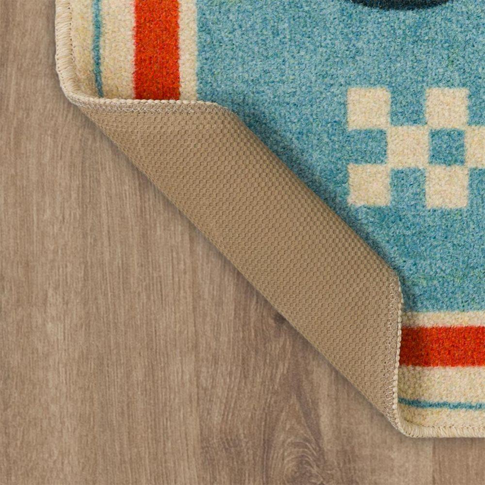 """Karastan Home Sweet Home 2' x 3'3"""" Light Blue Area Rug , , large"""