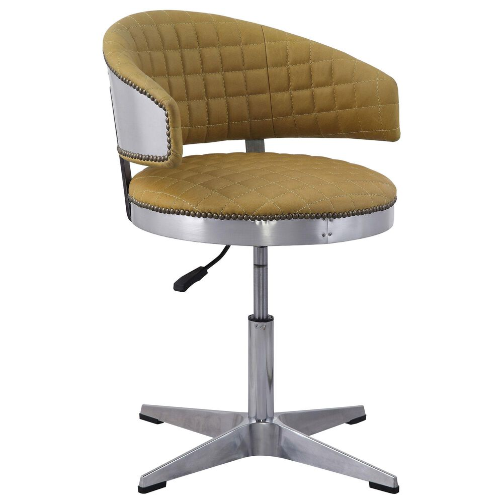 Gunnison Co. Brancaster Adjustable Swivel Chair in Turmeric/Chrome, , large