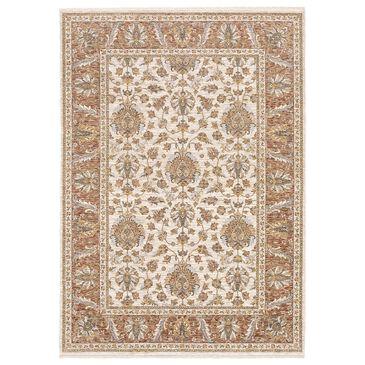 Oriental Weavers Maharaja Dakota 5091Q 2' x 3' Rust and Ivory Scatter Rug, , large