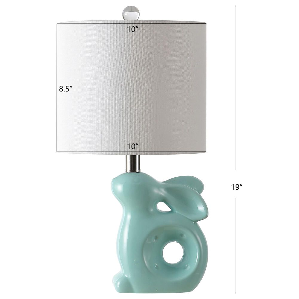 Safavieh Ruby Rabbit Table Lamp in Seafoam, , large