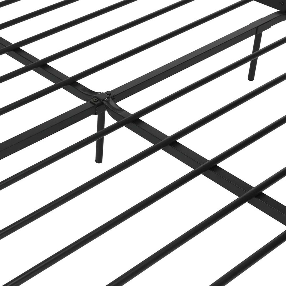 DHP Langham Full Metal Bed in Black, , large