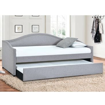 Accentric Approach Daybed with Trundle in Dark Gray, , large