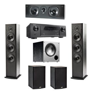 Polk 6 Speaker Set with Denon Receiver 5.1 Theater System, , large