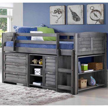 Little Dreamer Louver Loft Bed in Antique Gray, , large