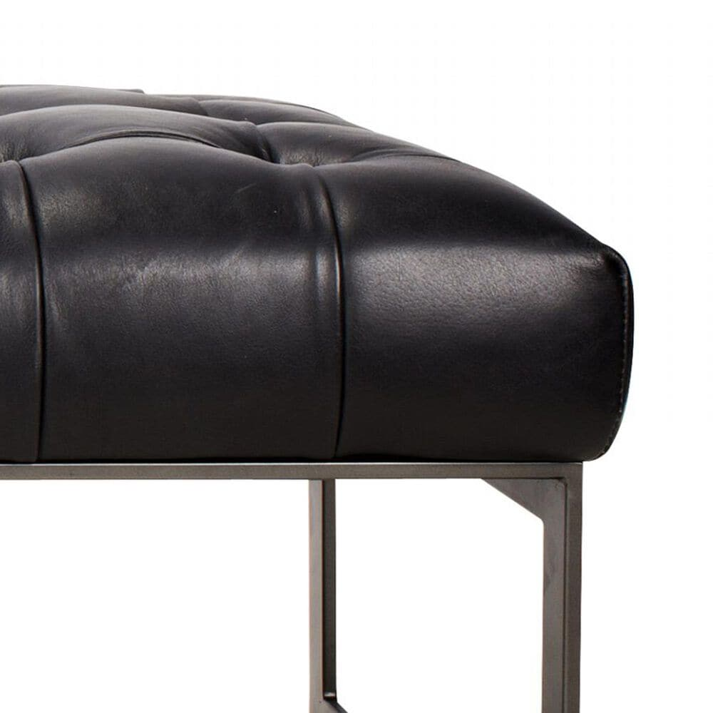 Moe's Home Collection Wyatt Top Grain Leather Bench in Black, , large