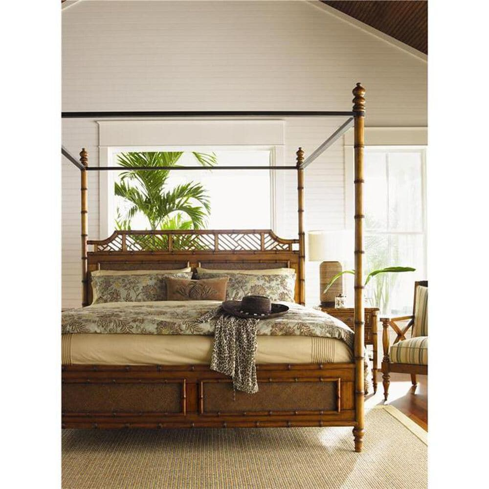 Tommy Bahama Home Island Estate West Indies Queen Canopy Bed, , large