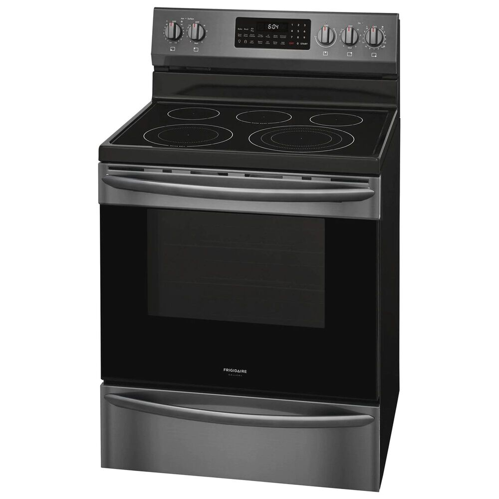 Frigidaire Gallery 30'' Freestanding Electric Range in Black Stainless Steel, , large