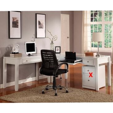 Simeon Collection Boca 3-Piece L Desk in Cottage White, , large