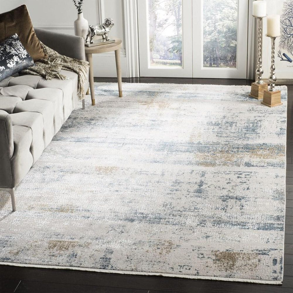 Safavieh Eclipse 4' x 6' Beige and Light Grey Area Rug, , large