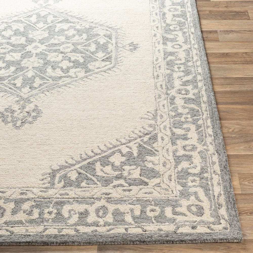 Surya Granada GND-2307 4' x 6' Medium Gray, Beige and Charcoal Area Rug, , large