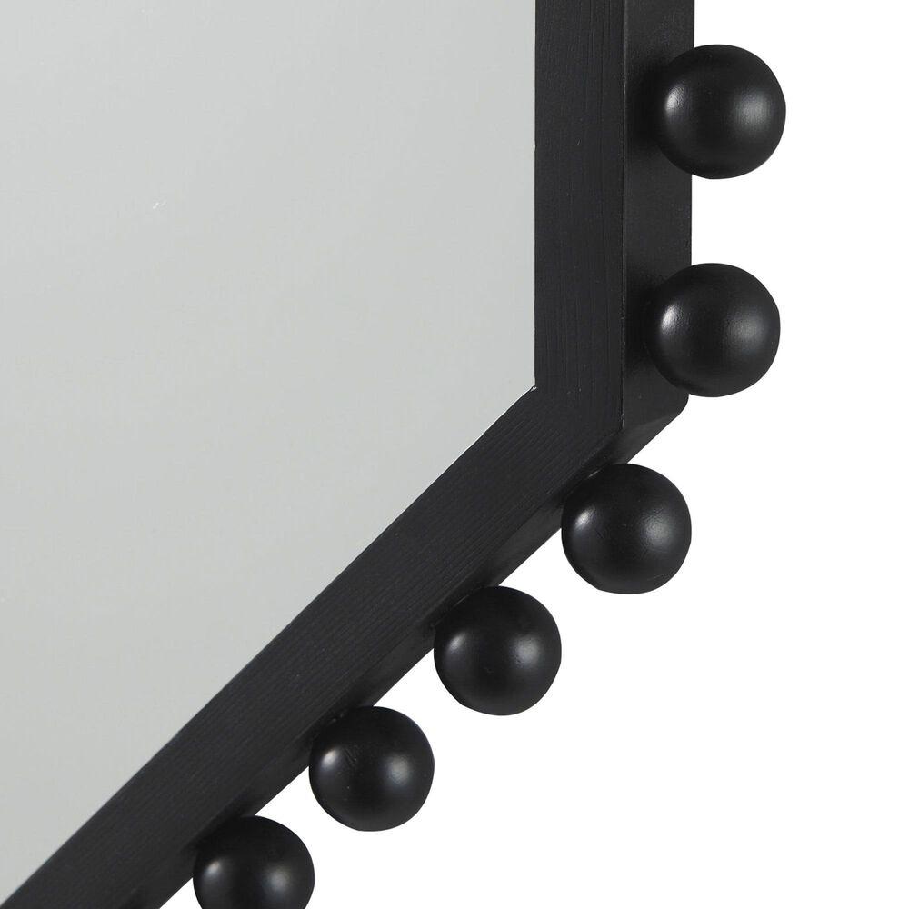 Mercana Torquay Octagon Wood Frame Mirror in Black, , large